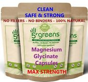 Magnesium Glycinate 650mg Veg Capsules - Best Quality And Value Clean No Fillers