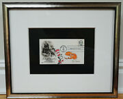 Stunning Framed Dr. Seuss Signed Original Drawing Cat In The Hat W. Loa/coa