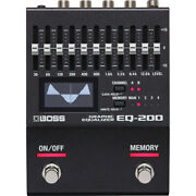 Boss Eq200 200 Series Graphic Equalizer Guitar Effects Pedal