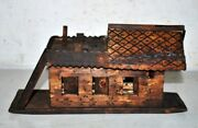 Antique Old Wooden Hand Carved Decorative Sailing Boat House Figure Collectible