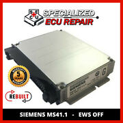Bmw 328 E36 Ecu Dme Siemens Ms41.1 Ews Off - Rebuilt