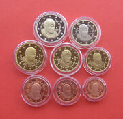 Vatican City 2007 Benedictvs Xvi 1 Cent-2 Euro 8 Coins Proof Set With Ag Medal