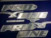 Pro Line Boats Emblem 53 Chrome + Free Fast Delivery Dhl Express - Raised Decal