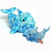 Docks The Dolphin Ty Beanie Baby And Buddy Set Retired Mwmt Collectible