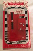 Coca Cola Coke Collectible Musical Bank Plays Itand039s The Real Thing Die Cast Metal