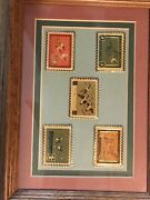 Usps Postage Stamp Lapel Pin 5 Usda Duck Collection In Framed Glass Shadowbox
