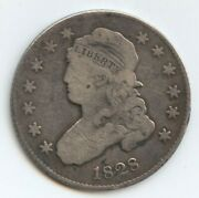 1828 Bust 25c 25/50c Variety 10684 Some Light Scrs. And Light Cleaning.