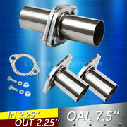 2pcs 2.25 Od Universal Quickfix Exhaust Triangle Flange Repair Pipe Kit 2 Bolts