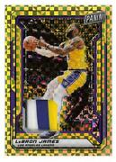 2019 Panini National Vip Gold Pack Lebron James Gold Refractor Patch D 5/5