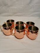 Set Of 6 Grey Goose Moscow Mule Fly Beyond Copper Mugs Cups