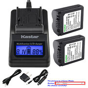 Kastar Battery Lcd Fast Charger For Cga-s006 S006 And Panasonic Lumix Dmc-fz30s