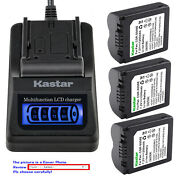Kastar Battery Lcd Quick Charger For Cga-s006 S006 And Panasonic Lumix Dmc-fz30s