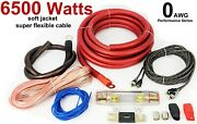 Extreme Quality 0 Gauge 6500w Amp Cables Amplifier Connection Power Wiring Kit
