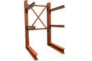 Used Cantilever Structural I Beam 16and039 Tall Lumber Rack Steel Rack Tree Rack
