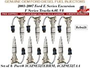 8 Pieces Fuel Injectors Super Duty 6.0l V8 Ford F-350 2004-2007 Oem Ford Diesel