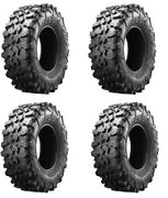Maxxis Carnivore Radial 8ply Tire Atv Utv Tires Full Set Of 32x10-14 4