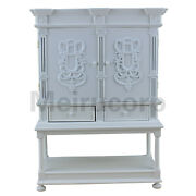 Doll Furniture 1/6 Scale White Well Hand Wooden Drawer Collection Cabinet