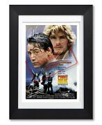 Point Break Movie Cast Signed Poster Print Photo Autograph 1991 Film Gift