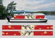 Wrapping Pontoon Replacement Graphics Kit Decal Stickers Boats New Year Dragon