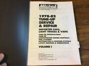 1978-82 Mitchell Manuals Tune-up Service Repair Vol 1 Imported Cars Trucks