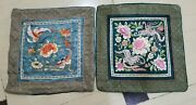 Antique Chinese Silk Hand Embroidered Beautiful Wall Hanging Panels Y27