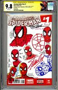 💥amazing Spider-man 1 Cgc Ss 9.8 Signed And Sketched Stan Lee And 8 Legends Rare💥