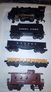 Lionel Train Set Steam Engine 1061 Coal Car Two Other Cars And A Caboose Nm
