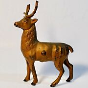 Antique/vintage Cast Iron Still Bank Reindeer, A.c. Williams Circa Early 1900's