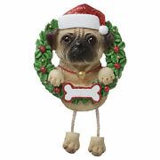 Pure Breeds Pug Personalized Christmas Tree Ornament