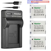 Kastar Battery Slim Usb Charger For Canon Nb-11l Cb-2ld Canon Elph 150 Is Camera
