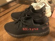 Yeezy Boost 350 V2 Bred Cp9652 Red Black Size 11 Upc 115600225