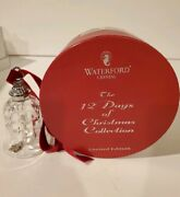 Waterford Crystal 12 Days Of Christmas Bell 10 Lords A Leaping 10th Ed With Box