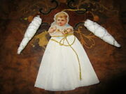 Lot Antique Cotton Christmas Tree Ornaments-  Germany