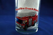 Hess 1996 Collectable Drinking Glass Bar Ware 1986 Hess Fire Truck Bank