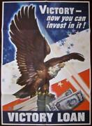Reduced 65 Victory-now You Can Invest In It 1945 Wwii Poster - Bald Eagle