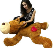 Personalized Giant Stuffed Dog 5 Feet Long Soft And Romantic, 2 Customized Names