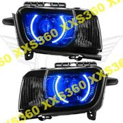 Oracle Halo 2x Headlights Chevrolet Camaro Rs 10-13 Blue Led And Projector Hid