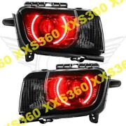 Oracle Halo 2x Headlights Chevrolet Camaro Rs 10-13 Red Led And Projector Hid