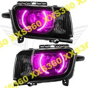 Oracle Halo 2x Headlights Chevrolet Camaro Rs 10-13 Pink Led And Projector Hid