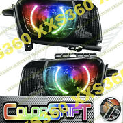 Oracle Halo Headlights For Chevy Camaro Rs 10-13 Colorshift 1.0 And Hid Projector