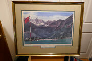 Linda Roberts 6th Annual Jerry Ford Invitational Art Litho Gerald Ford Autograph