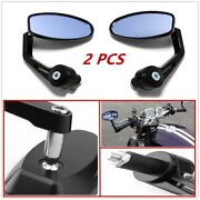 2pcs Mirrors Will Fit Motorcycle Street Bikes With 7/8 Standard Handlebars