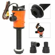 12v 800gph Livewell Baitwell Pumps Boat Submersible Bilge Pump Intermittent Use
