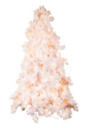 12and039 Glacier Long Needle White Pine Artificial Christmas Tree With Alwayslit Tech