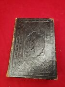 Antique Swedish Bibeln Bible, Embossed Leather Cover 1800's