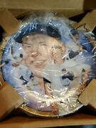 1992 The Legendary Mickey Mantle Plate Hamilton Collection Ed N.y. Yankees Hot