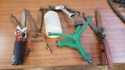 Vintage Antique Lot Lawn Garden Farm Red Handle Iron Hand Tools Clippers Sprayer