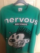 Nervous Records Rare Tshirt Green Snd Whiteonly One In Circulation...rare