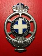 Hellinic Royal Grille Badge Automobile Club Flag Replica
