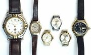 Vintage Lot Of 6 Assorted Wrist Watches Estate Find Polo Club Timex Seiko